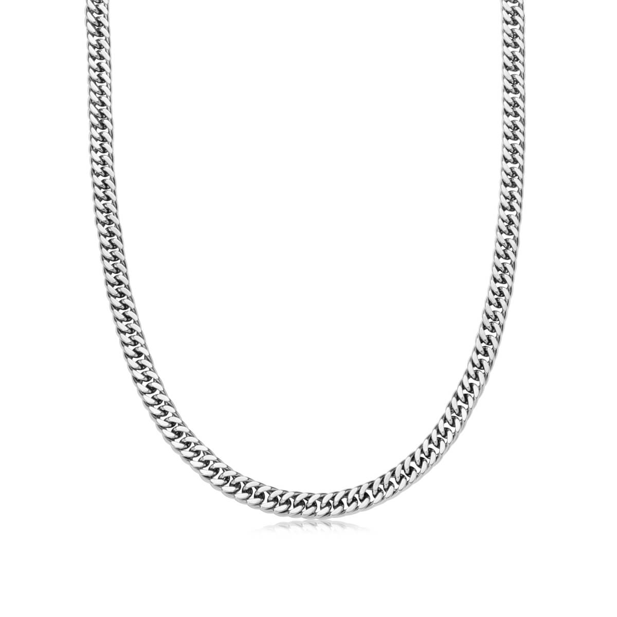 Curb Chain Necklace 18 in (Silver)