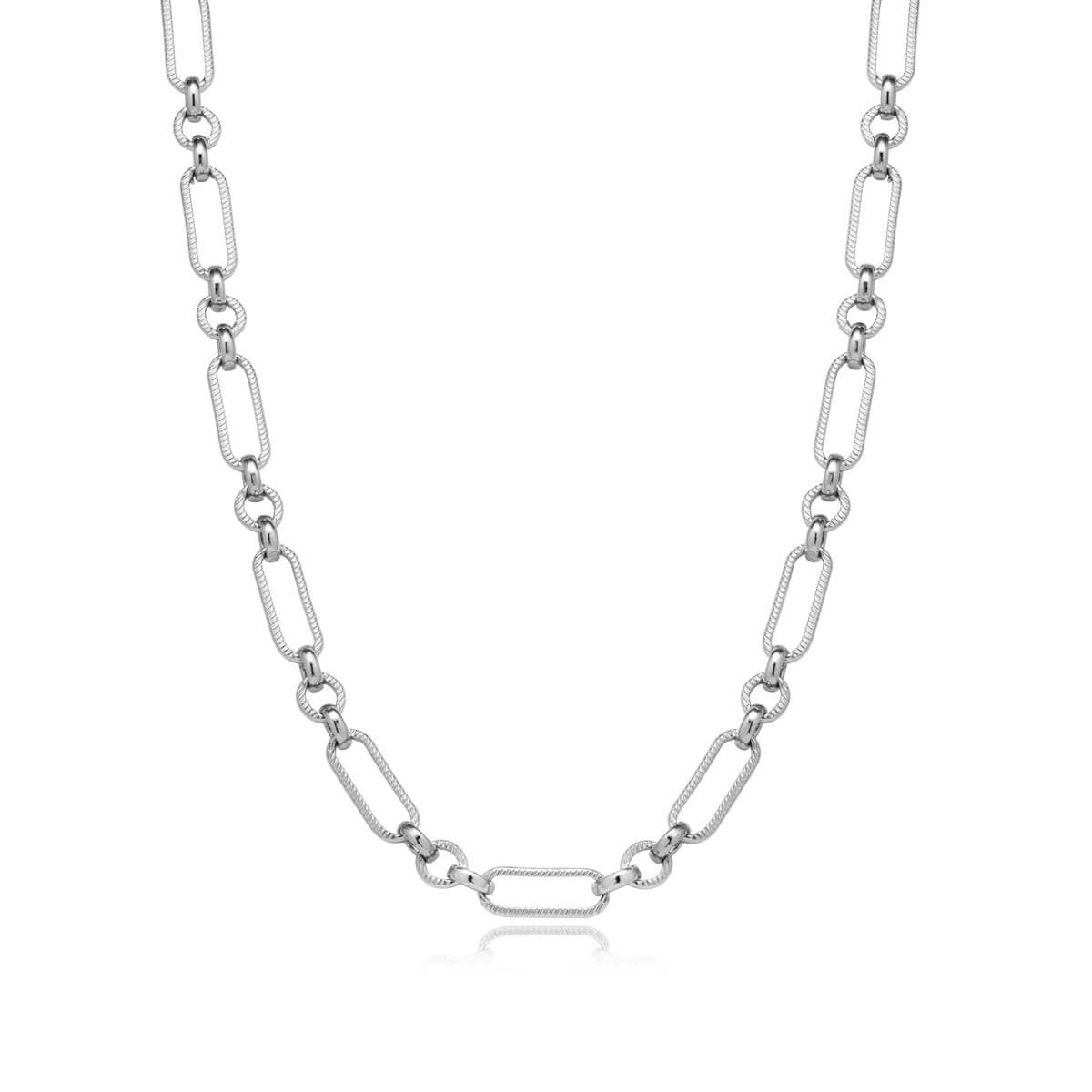 Figaro Chain Necklace (Silver)