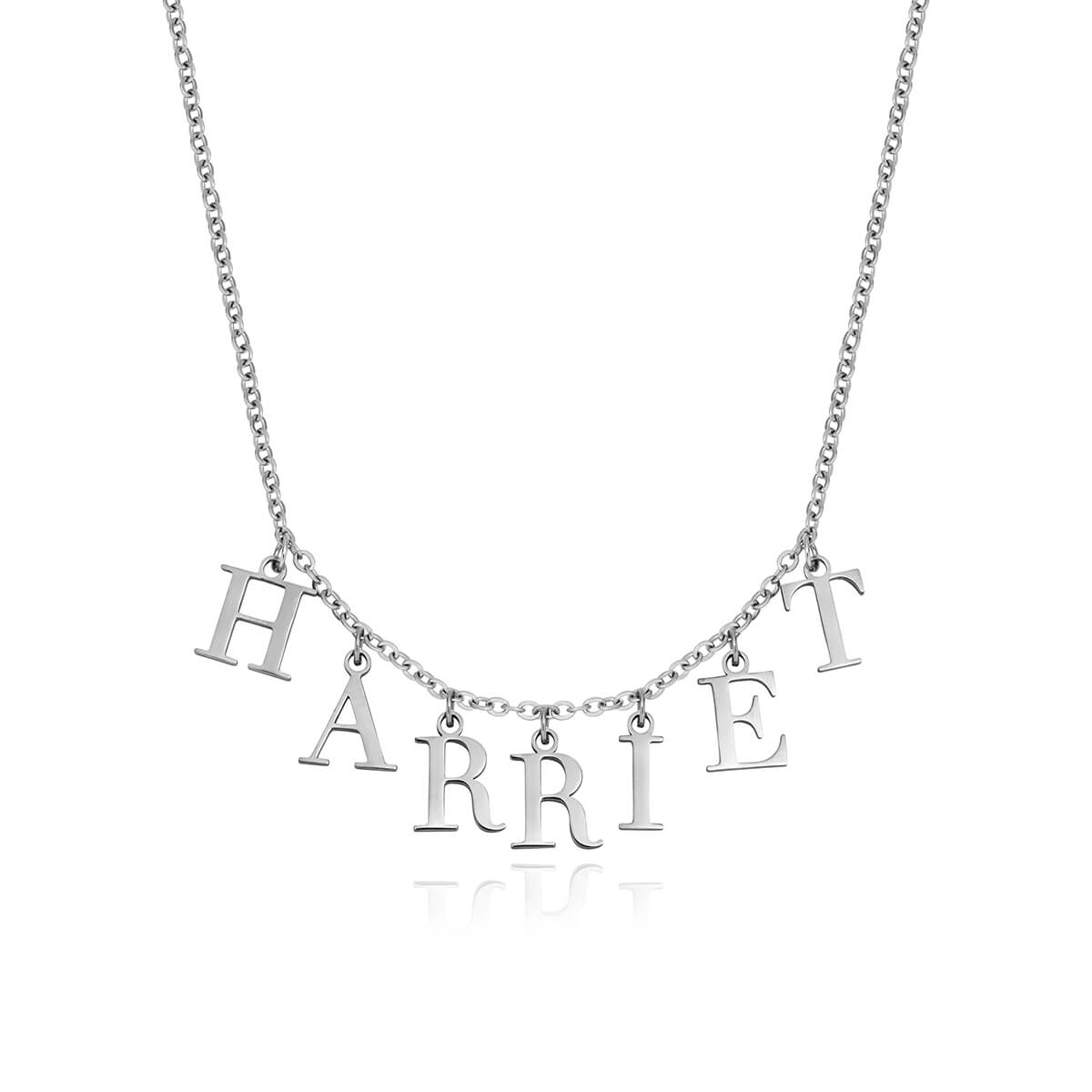 Editorial Letter Name Necklace (Silver)