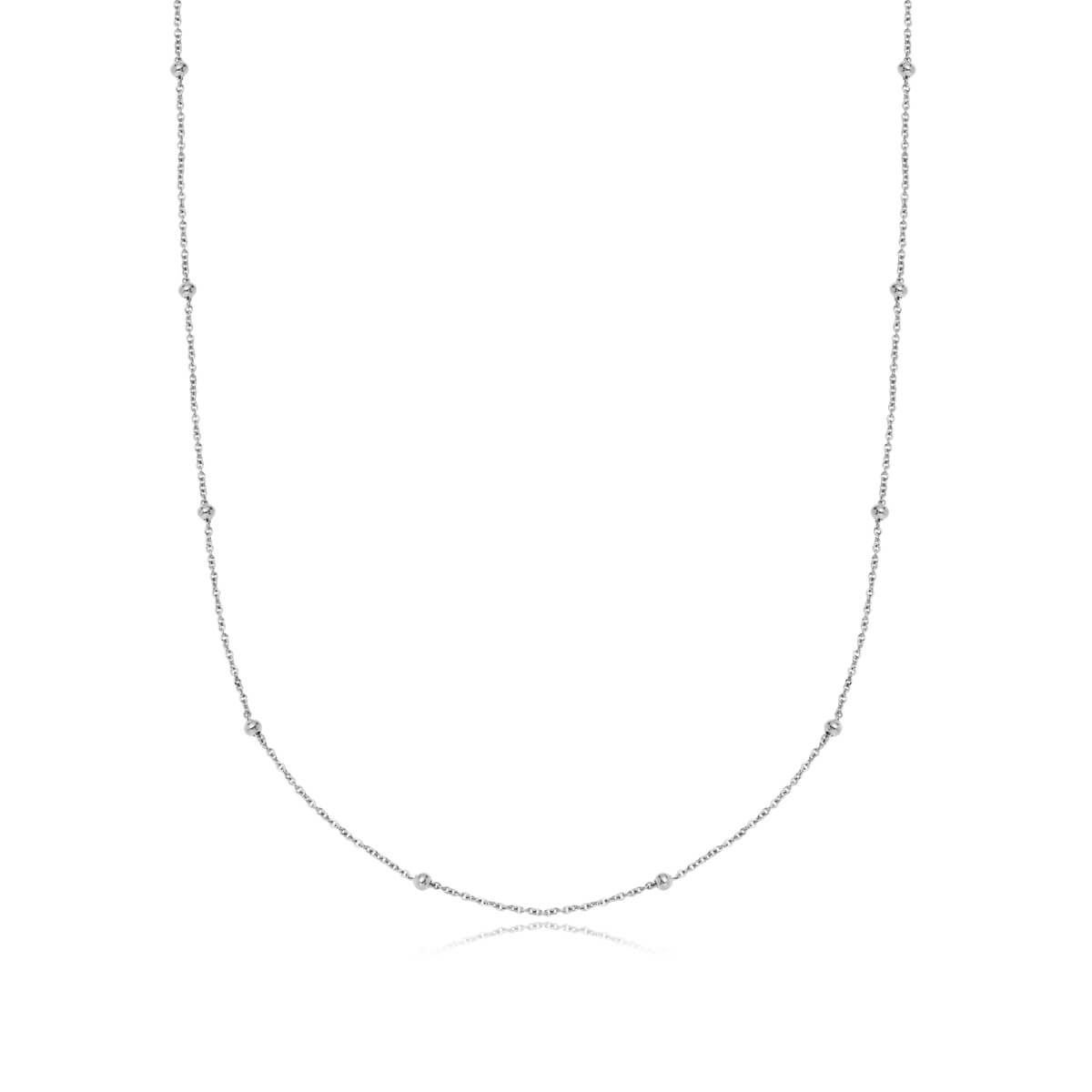 Sphere Chain Necklace 20 in (Silver)