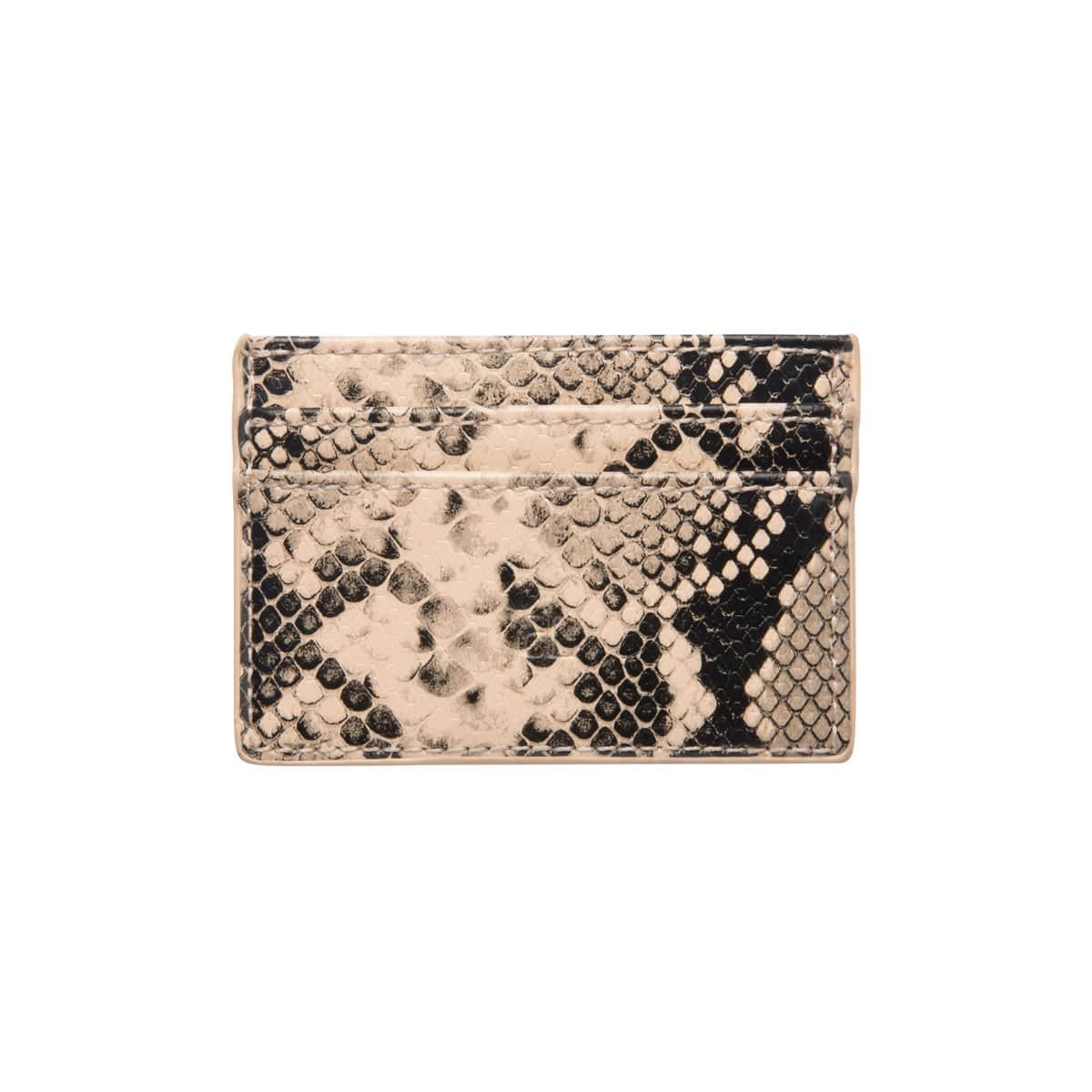 Cream & Black Snakeskin Clea Card Holder