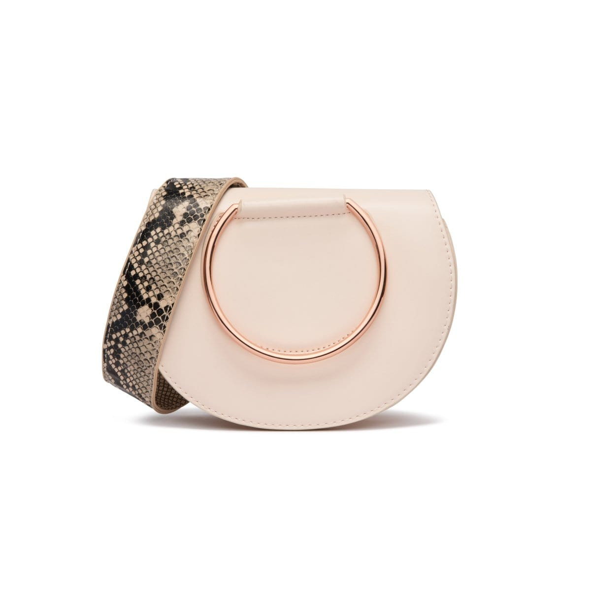 Nude Pink Eva Clutch Rose Gold