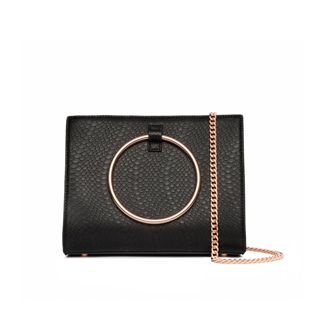 Moda Top Handle Bag (Jet Black/Rose Gold)