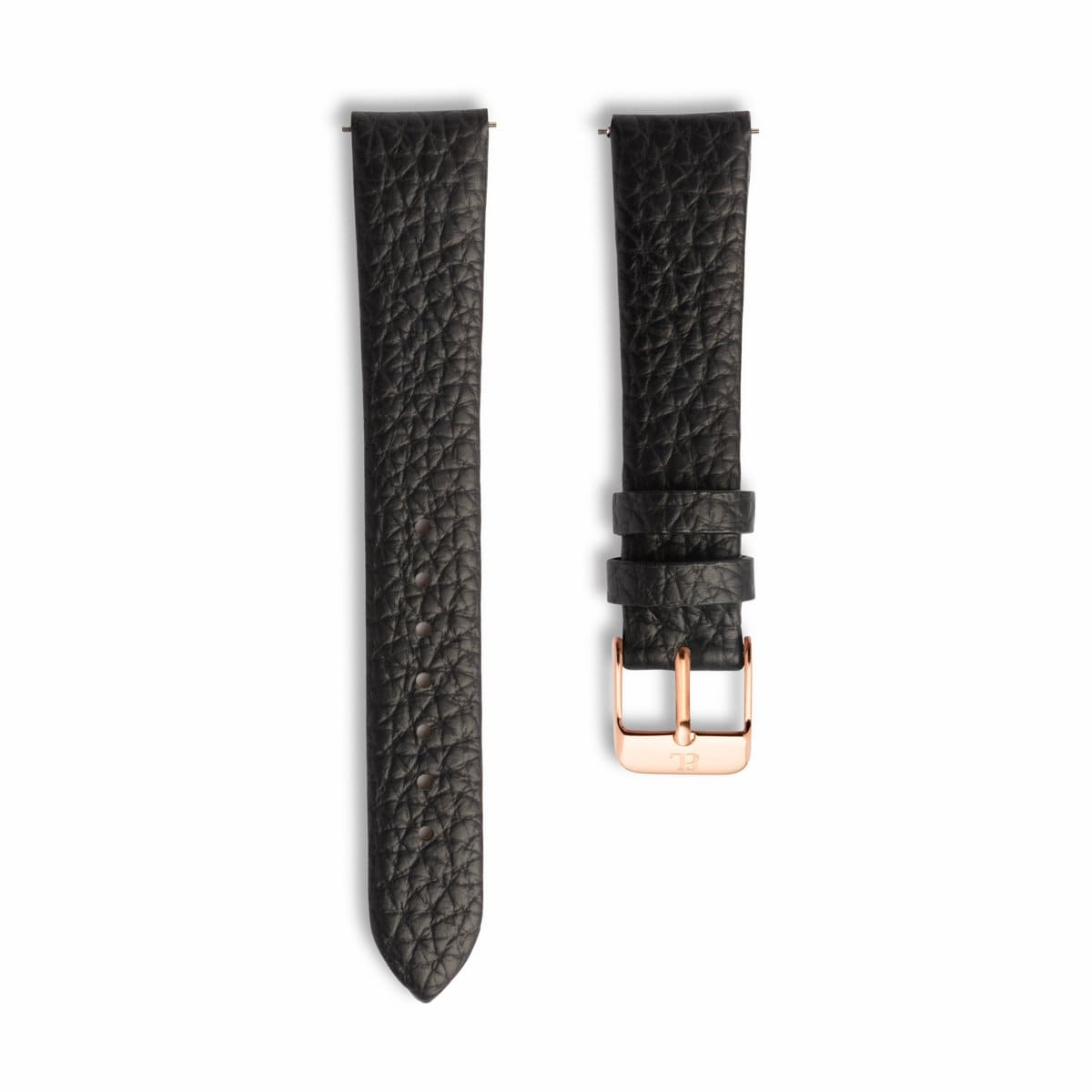 Jet Black 34 Strap Rose Gold