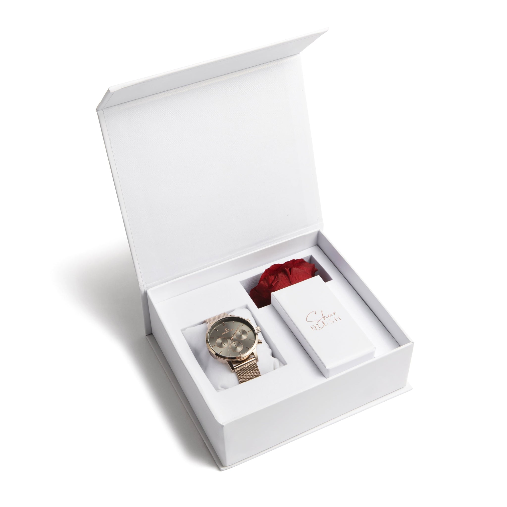 The Taupe Eternal Rose Gift Set (Ruby)
