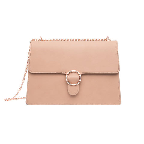 Mara Shoulder Bag (Desert Taupe/Rose Gold)