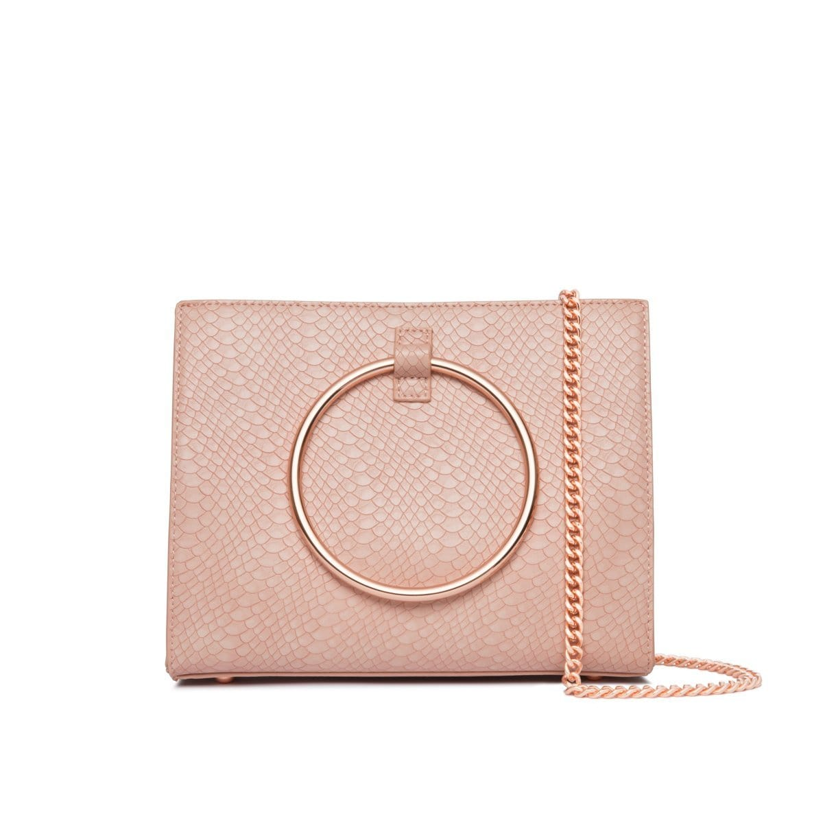 Carnation Pink Moda Handbag Rose Gold