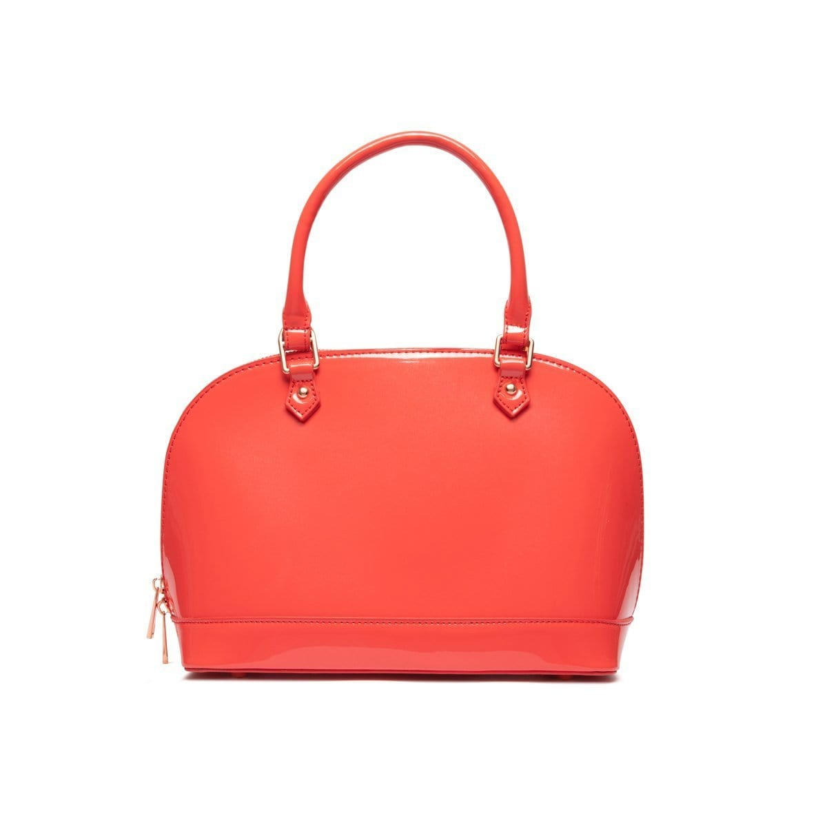 Alexa Top Handle Bag (Coral/Rose Gold)