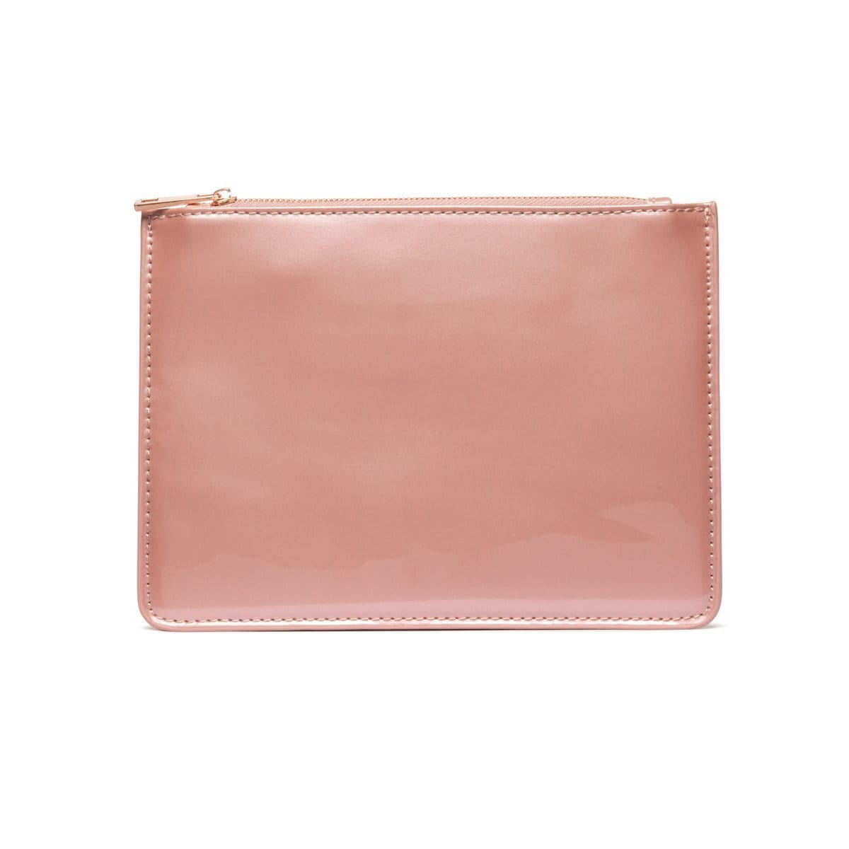 Dusky Pink Patent Sienna Pouch