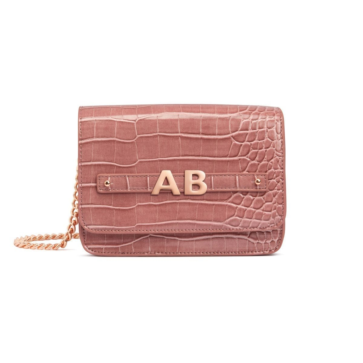Dusky Rose Personalise Handbag Rose Gold
