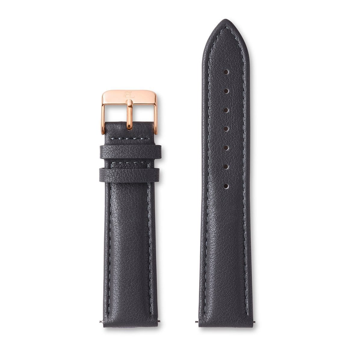 Eggshell Grey Leather Tierra 40 strap (Rose Gold)