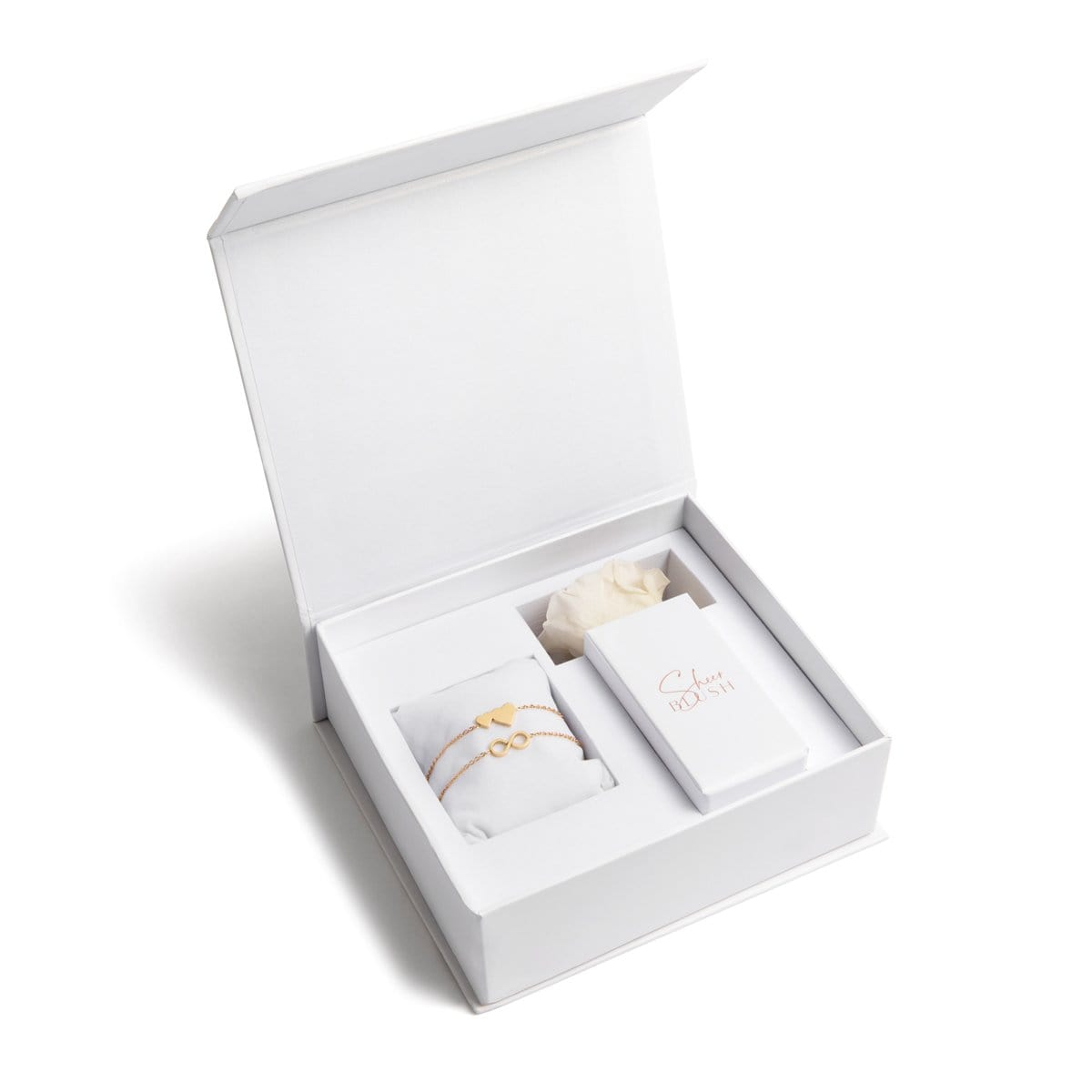 The Gold Infinite Love Eternal Rose Gift Set (White)