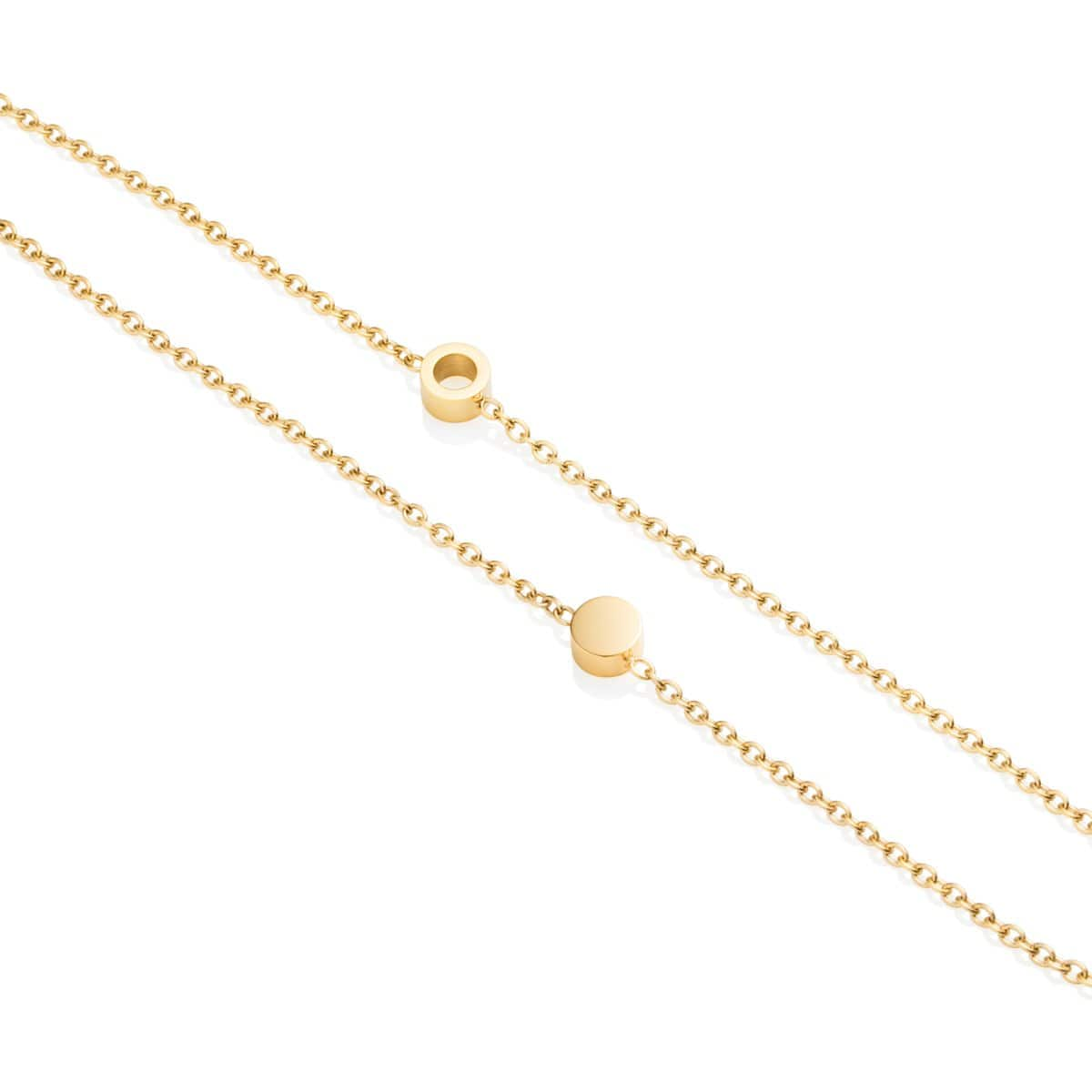 Little Luxe Double Disc Bracelet (Gold)