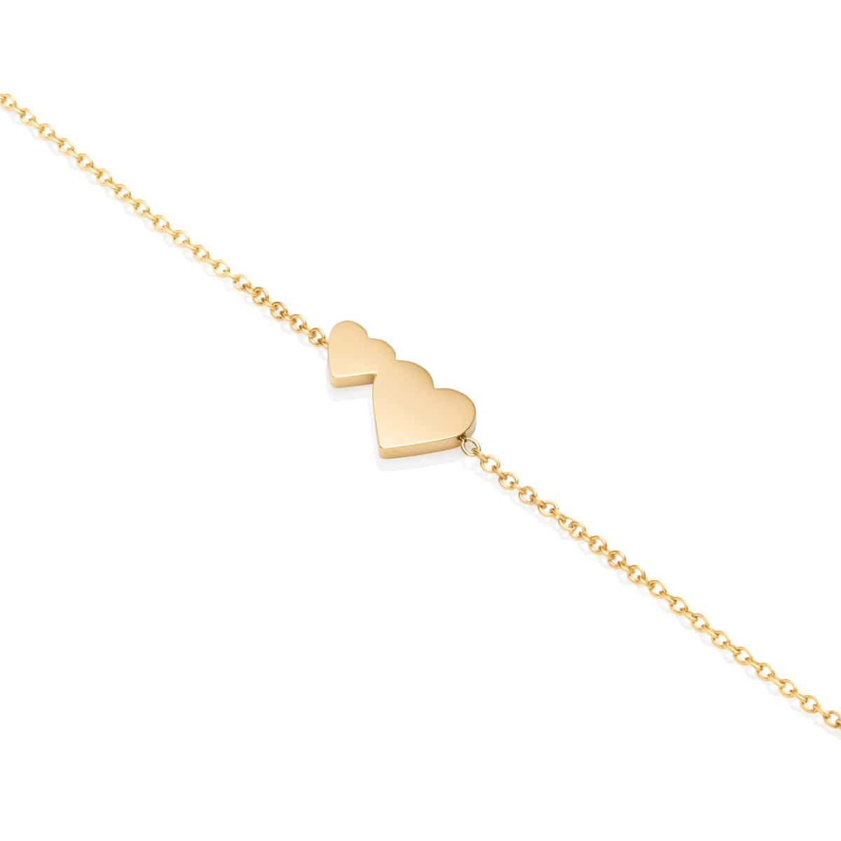 Little Luxe Double Heart Bracelet (Gold)