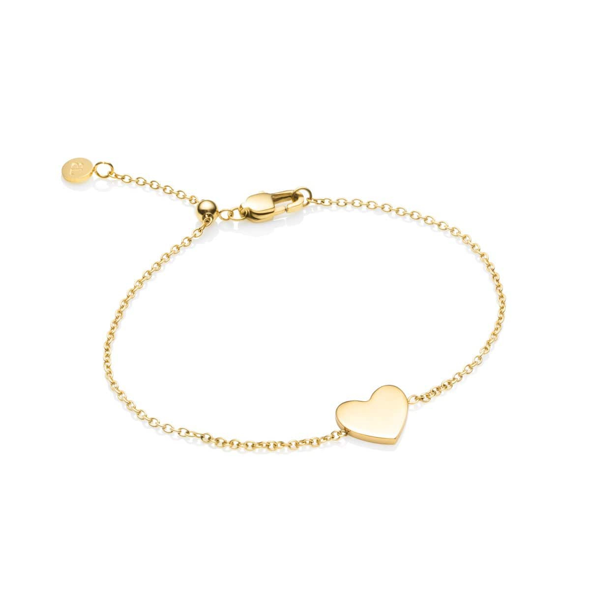 Little Luxe Heart Bracelet (Gold)