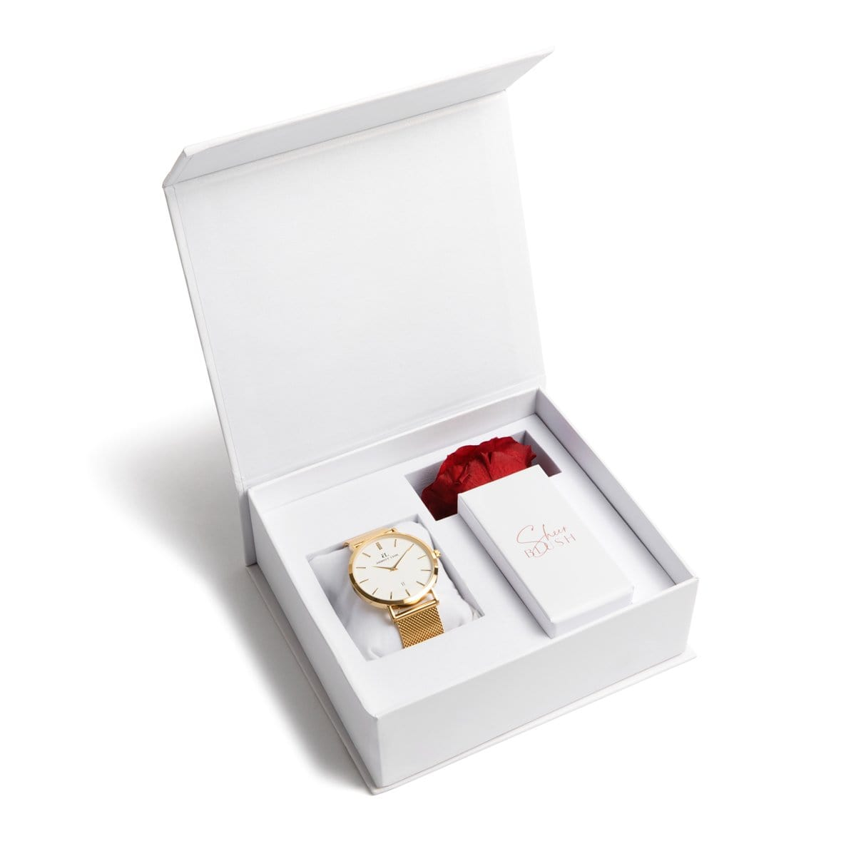 The Gold Eternal Rose Gift Set (Ruby)
