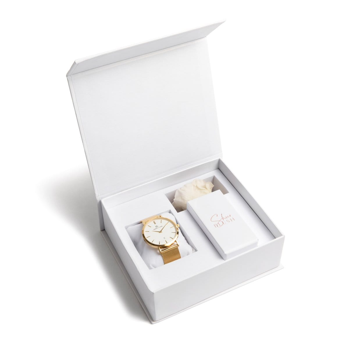 The Gold Eternal Rose Gift Set (White)