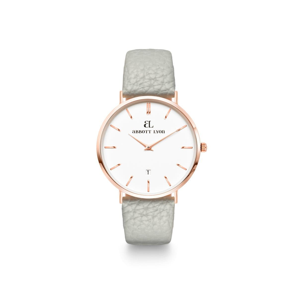 Parma Grey 34 Strap Rose Gold