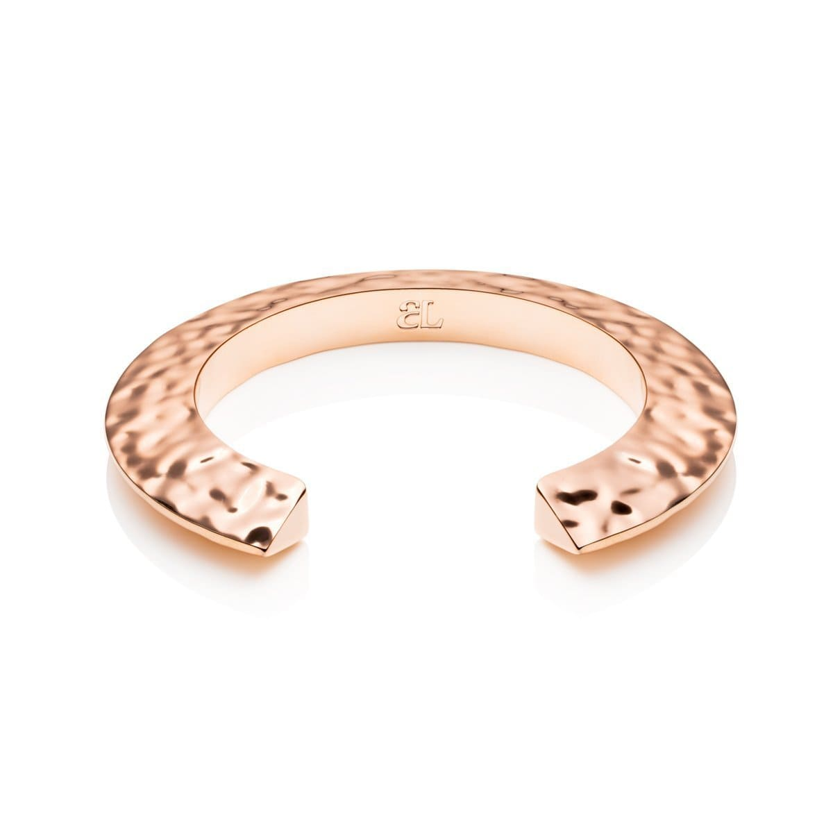 Hvar Hammered Bangle (Rose Gold)