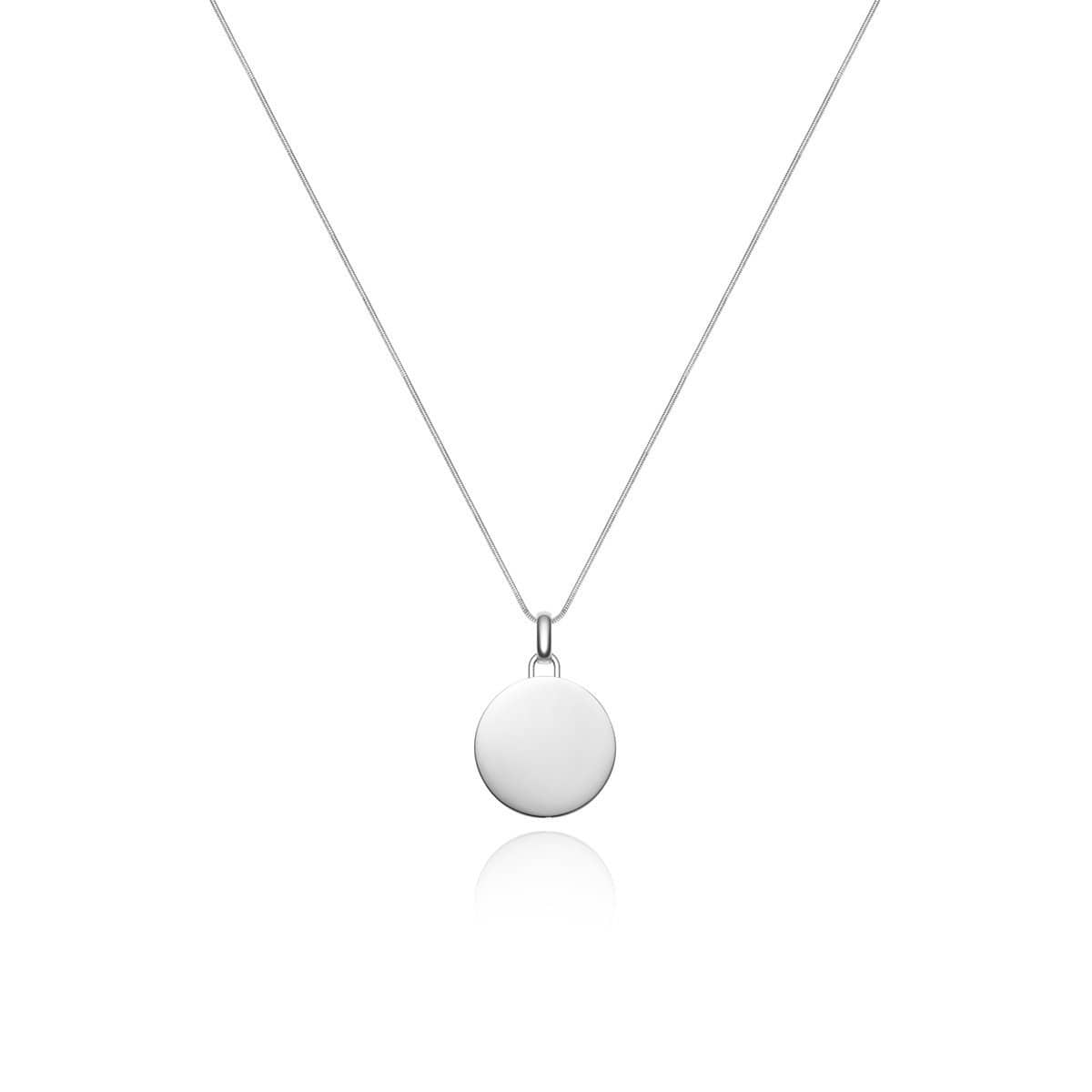 Luna Large Charm Necklace (Silver)