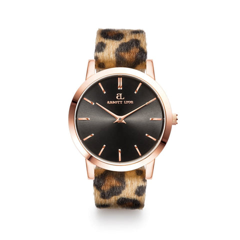 Leopard Leather Luxe 40 (Rose/Black)