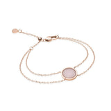 Little Luxe Rose Quartz Eclipse Bracelet (Blush)