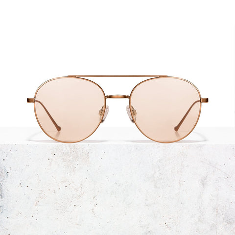 Rose Gold Clear Rose Vita Sunglasses