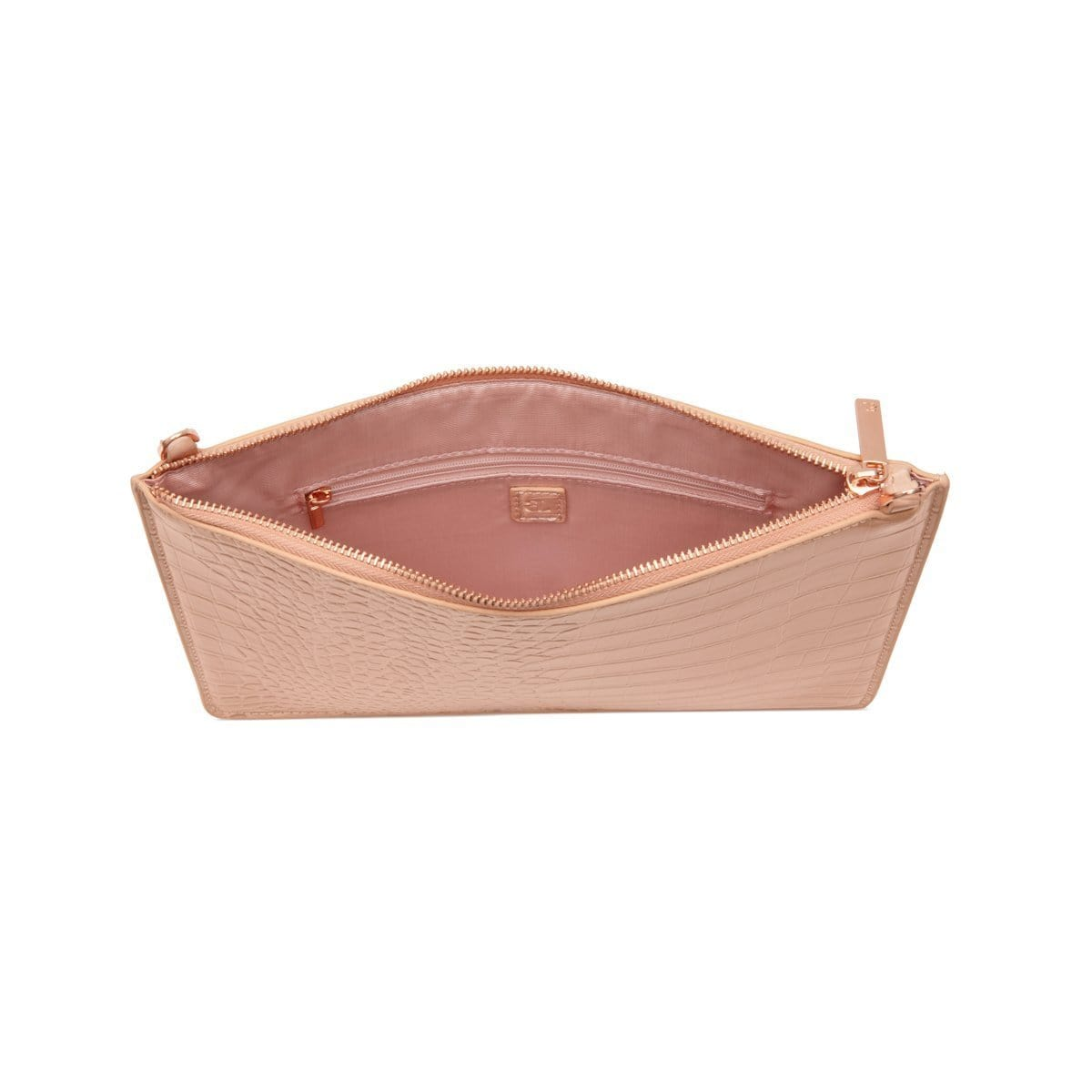 Naomi Clutch Bag (Nude Peach/Rose Gold)
