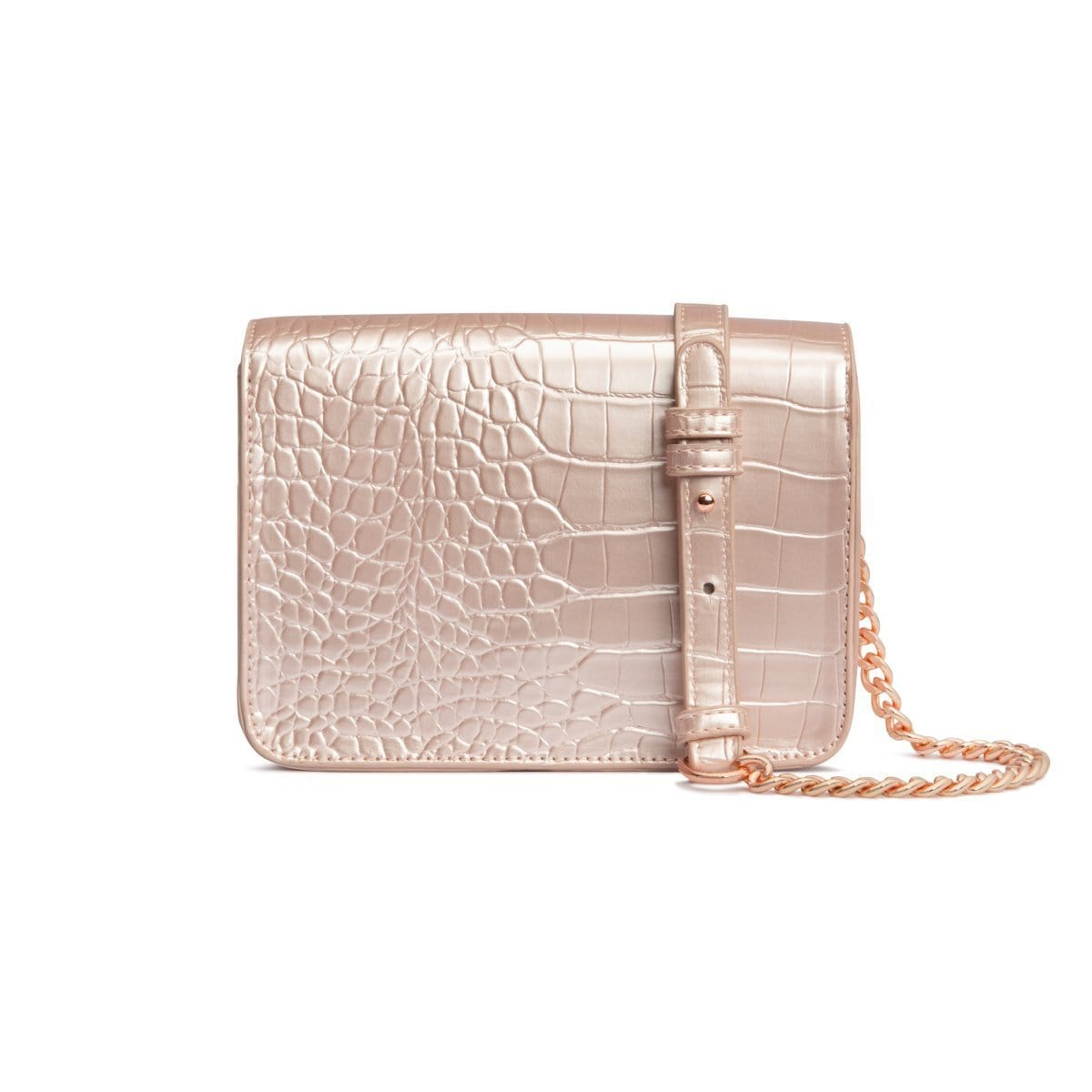 Personalise Crossbody Bag (Shimmer Blush/Rose Gold)
