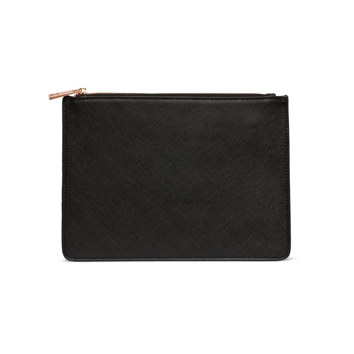 Jet Black Sienna Pouch (PERSONALISE ME!)