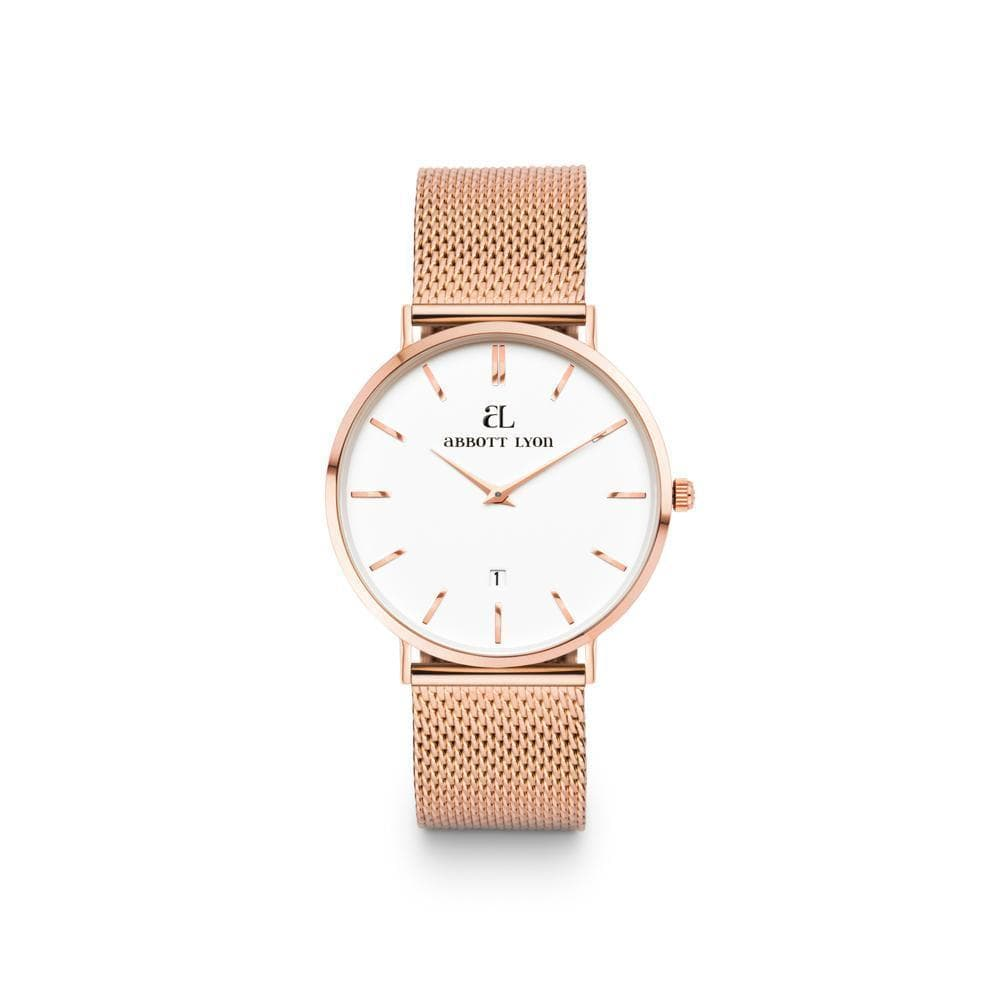 Rose Gold Chain White Kensington 34