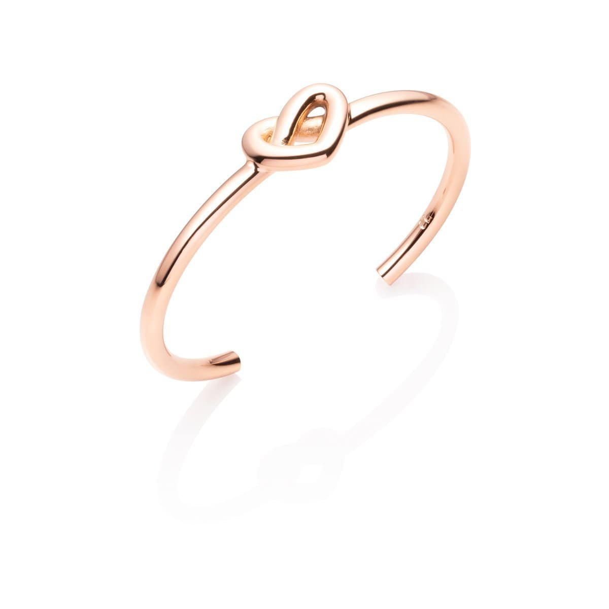 Heart Knot Bangle (Rose Gold)