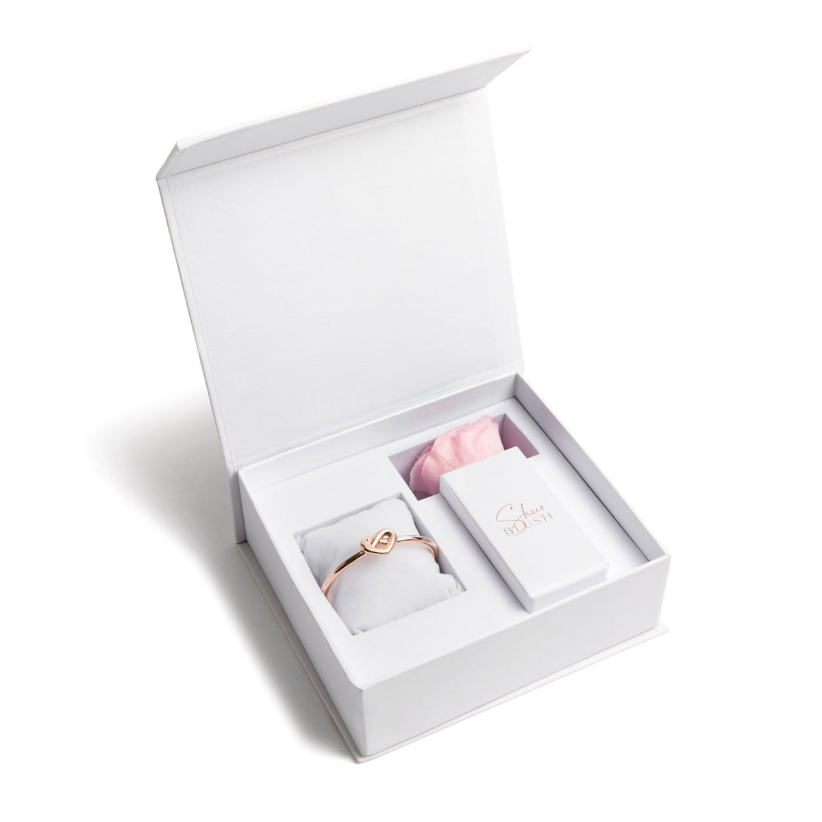 Heart Knot Eternal Rose Gift Set (Blush)