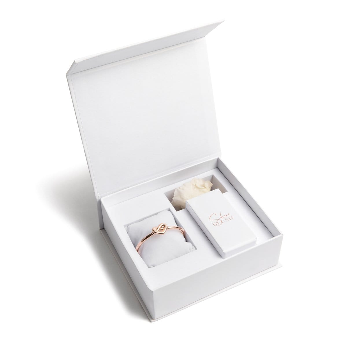 Heart Knot Eternal Rose Gift Set (White)