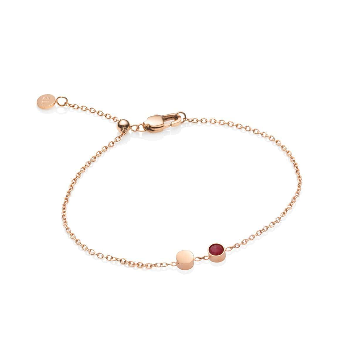 Little Luxe Bijou Bracelet (Pink Quartz/Rose Gold)