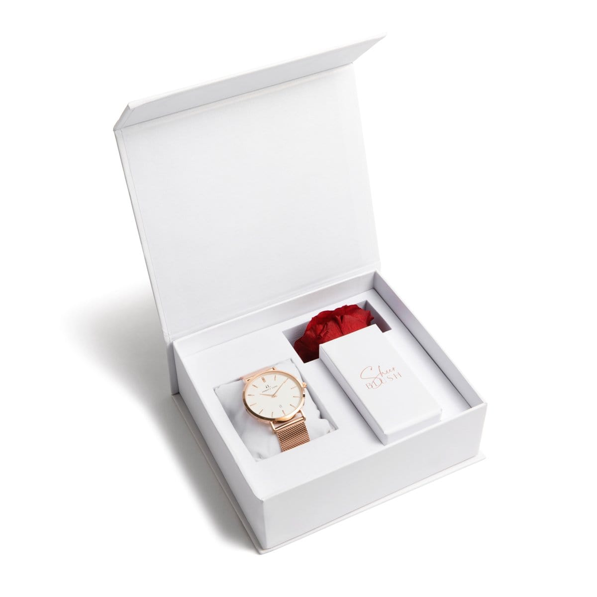 The Rose Gold Eternal Rose Gift Set (Ruby)