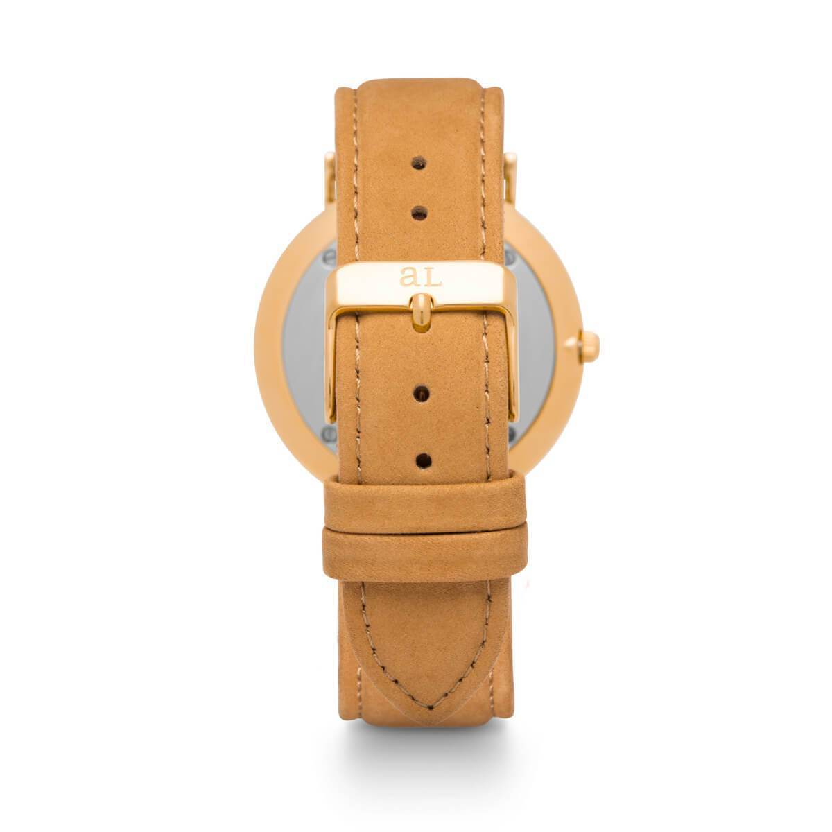 Tan Leather Kensington 40 Rose Gold