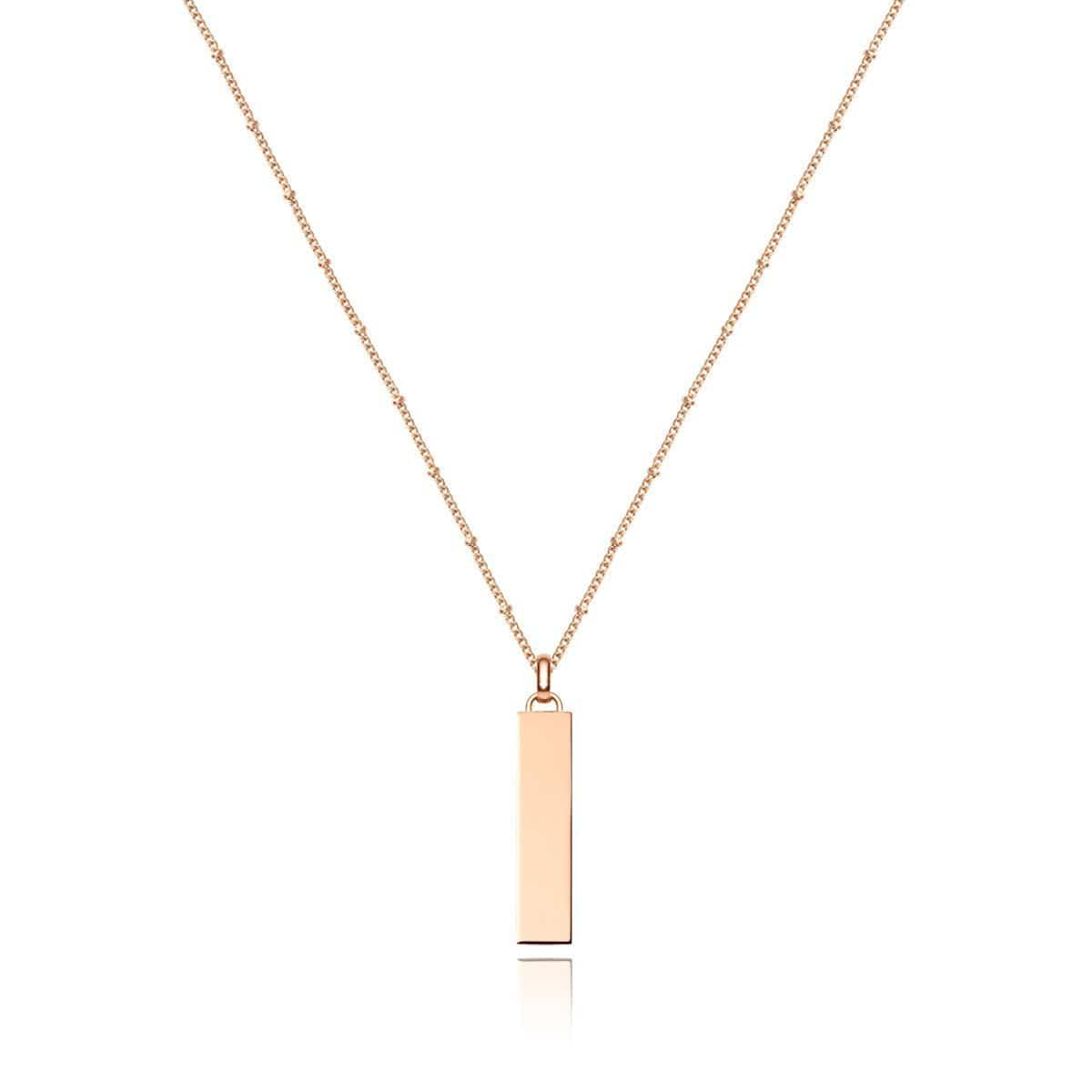 Large Lineare Charm Necklace (Rose Gold)