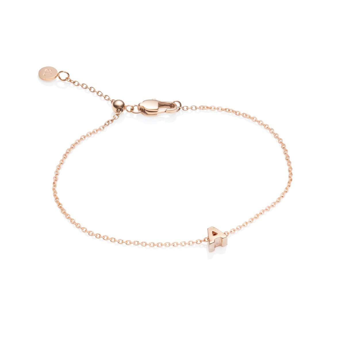 Little Luxe Letter Bracelet (Rose Gold)