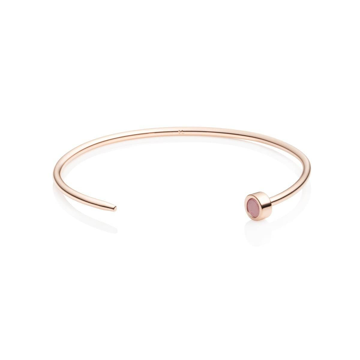 Rose Quartz Luna Bangle (Rose Gold)