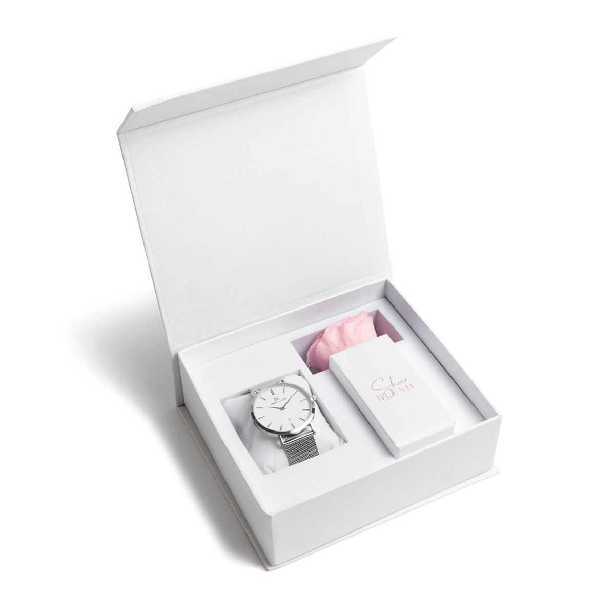 The Silver Eternal Rose Gift Set (Blush)