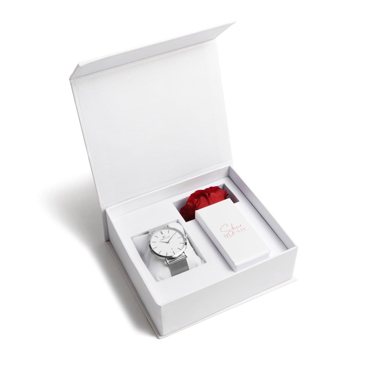 The Silver Eternal Rose Gift Set (Ruby)