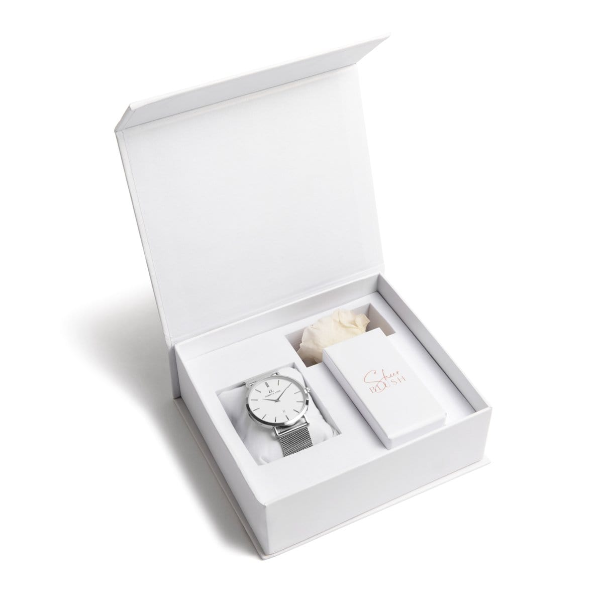 The Silver Eternal Rose Gift Set (White)