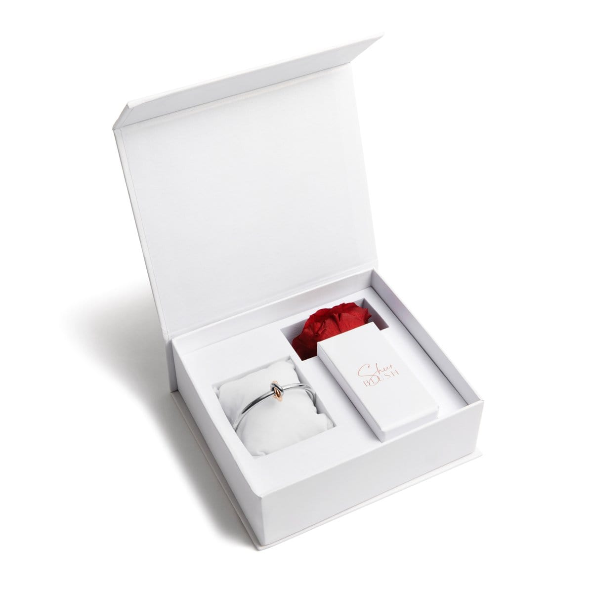 Silver Knot Eternal Rose Gift Set (Ruby)