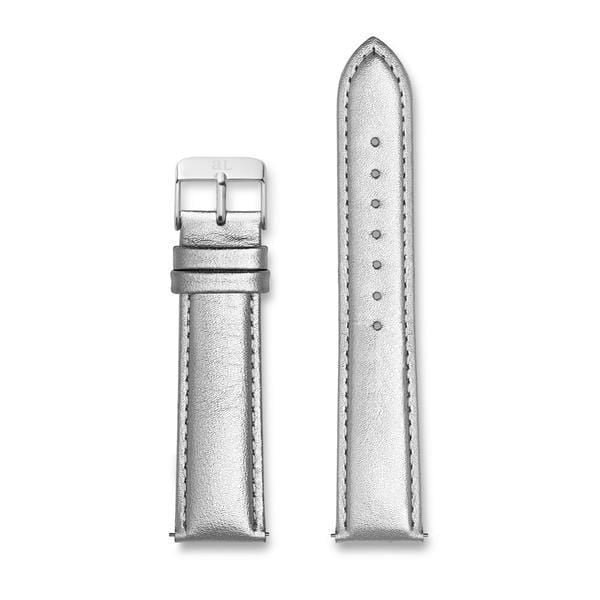 Metallic Silver Leather 40 Strap (Silver)