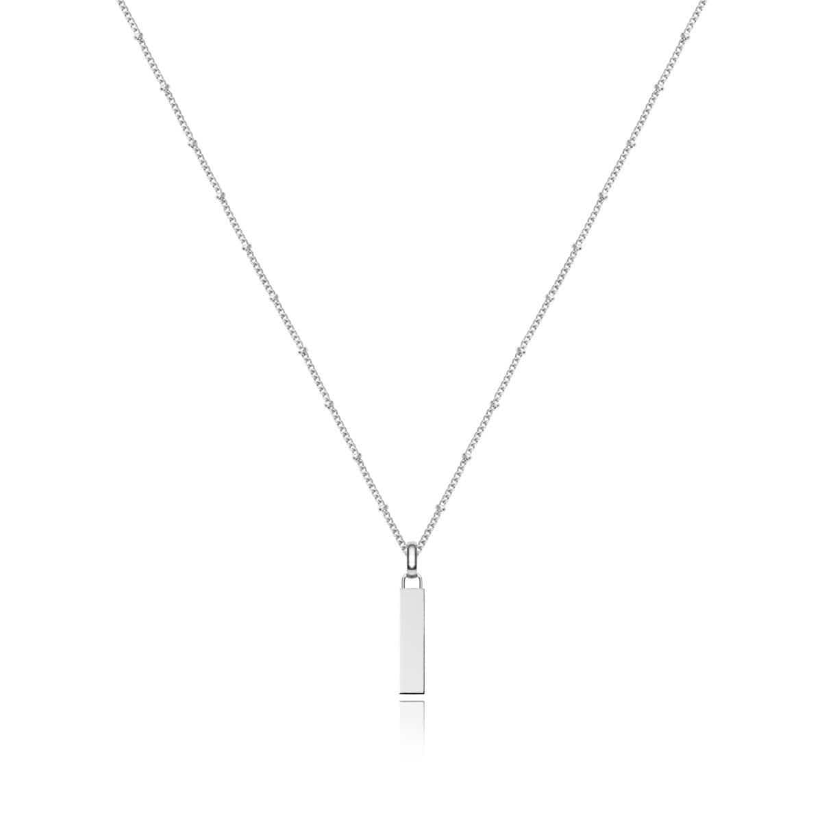 Small Lineare Charm Necklace (Silver)