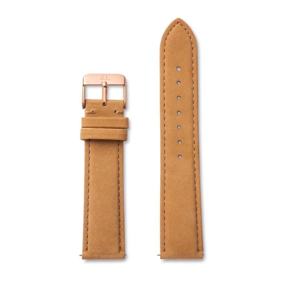 Tan Suede 40 Strap (Rose Gold)