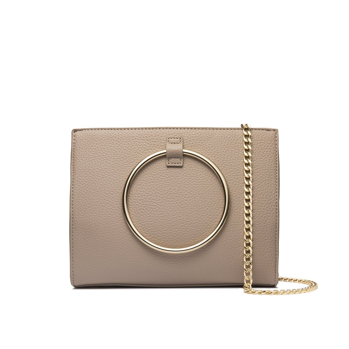 Moda Top Handle Bag (Warm Taupe/Yellow Gold)