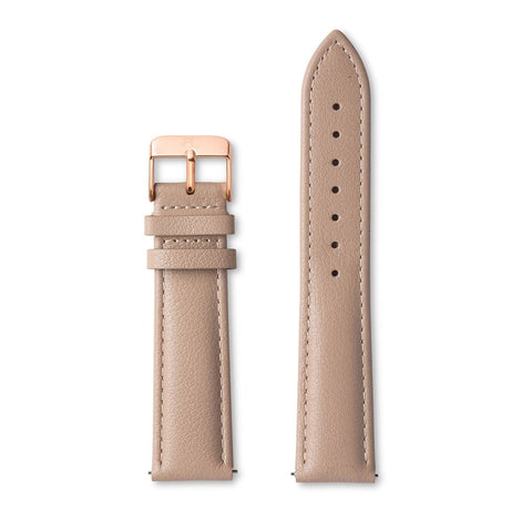 Terracotta Pink Leather Tierra 40 Strap (Rose Gold)
