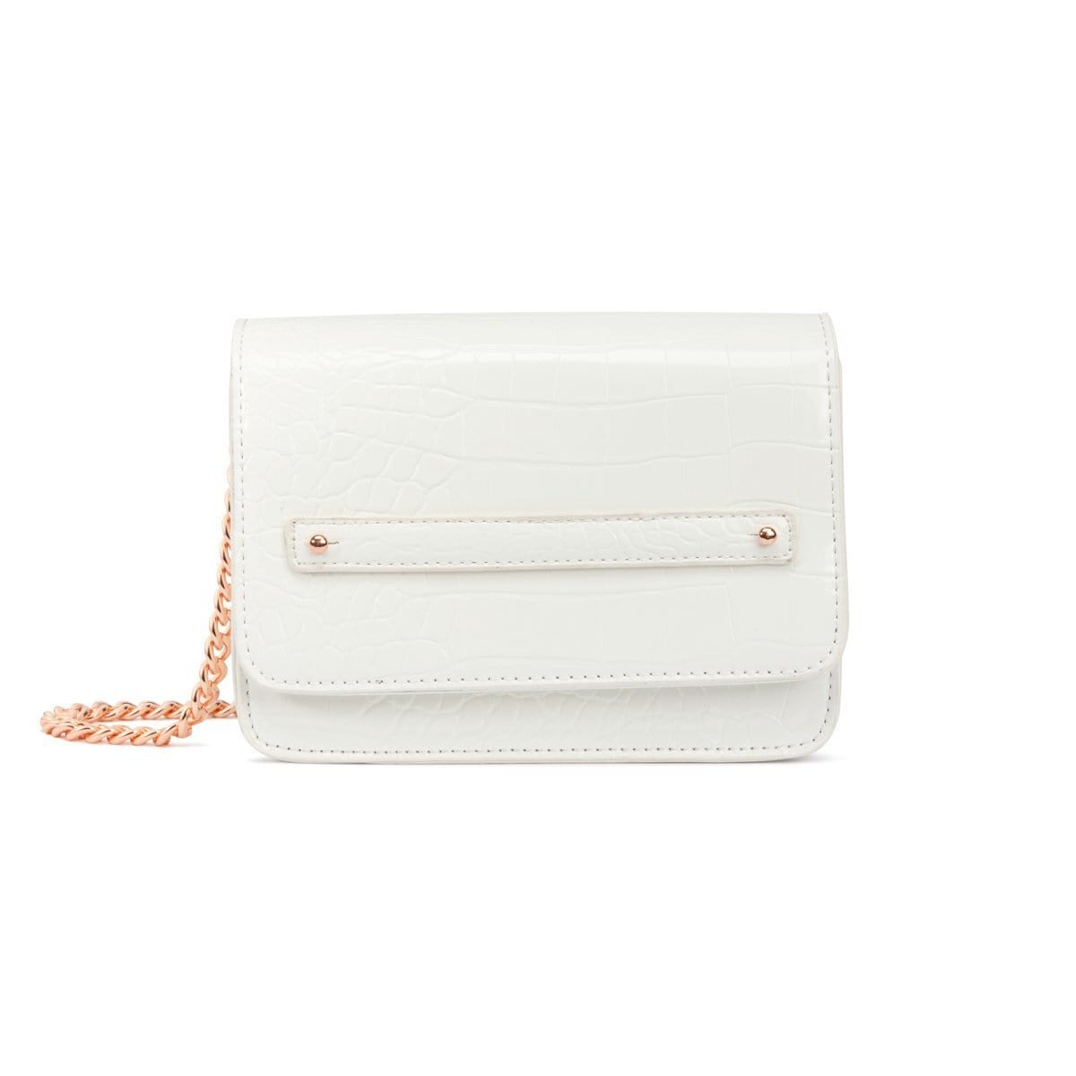 Personalise Crossbody Bag (Snow White/Rose Gold)